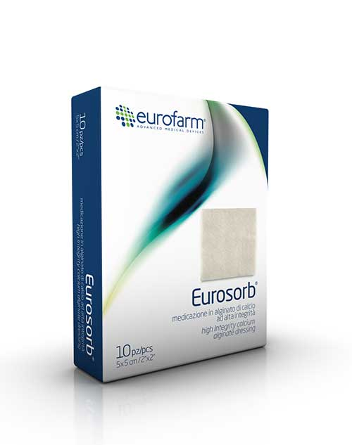 یوروسورب،آلژینات کلسیم،اگزودات،زخم پوستی,پانسمان یورو سورب,Eurosorb,پانسمان کلسیم آلژینات یوروسورب یوروفارم,پانسمان آلژینات کلسیم
