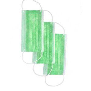 ماسک سه لایه پزشکی گیره دار سبز